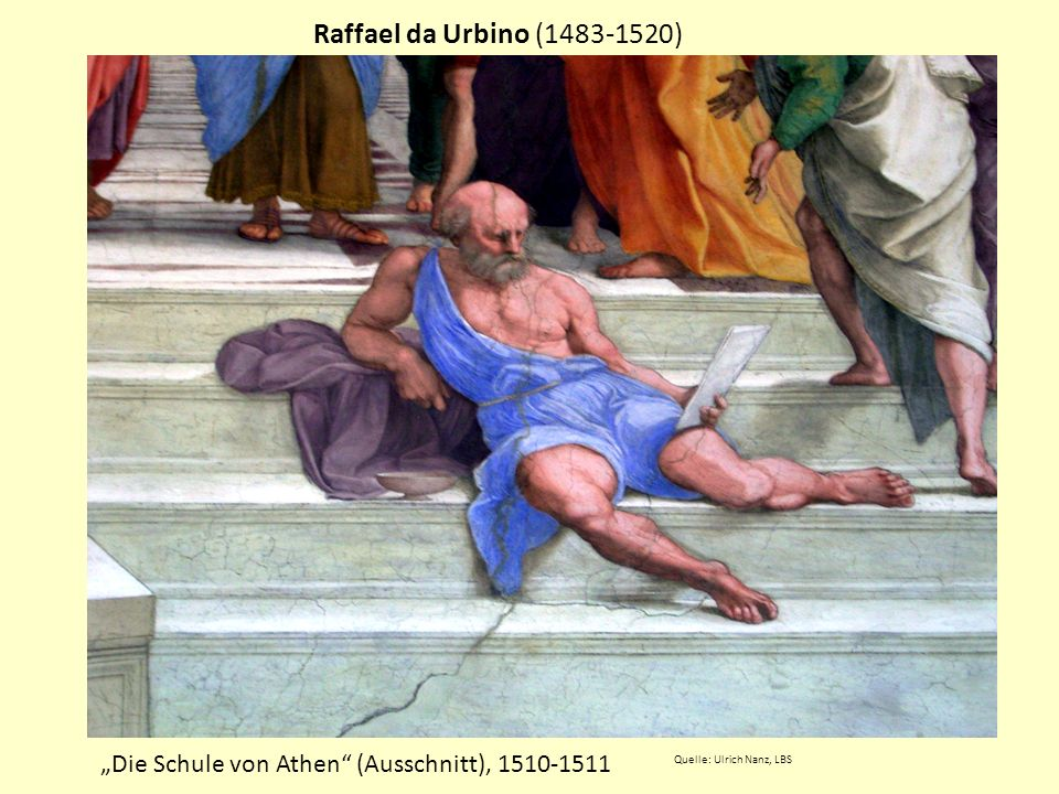 Raffael da Urbino (1483-1520) Die Schule von Athen (Ausschnitt), 1510-1511 Quelle: Ulrich Nanz, LBS