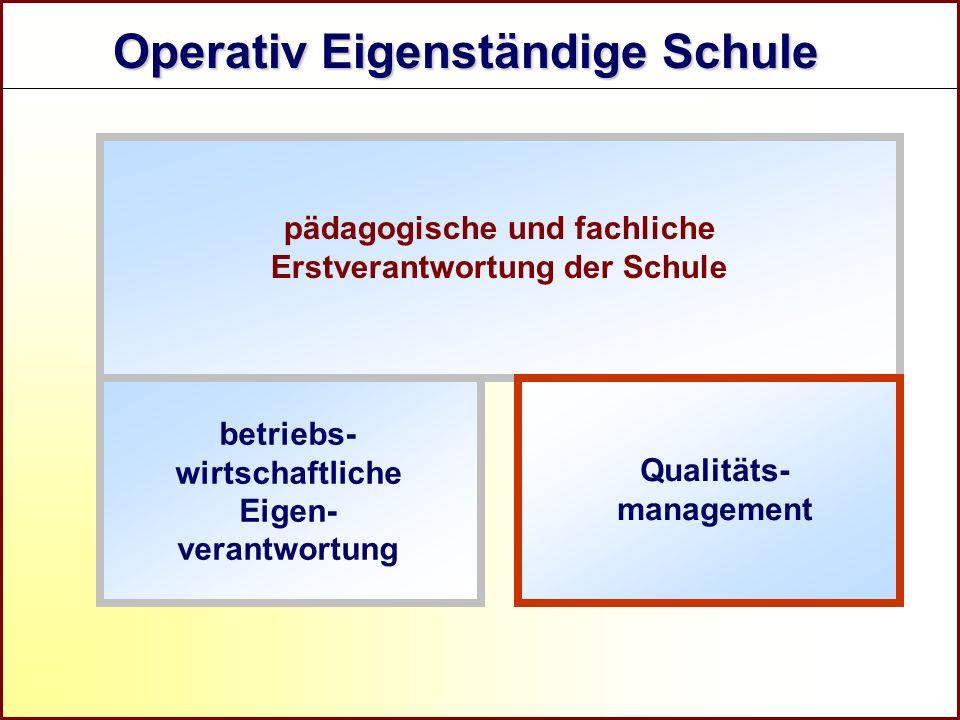 Referat Grundsatzfragen beruflicher Schulen und Qualitätssicherung R pädagogische und fachliche Erstverantwortung der Schule Operativ Eigenständige Sc