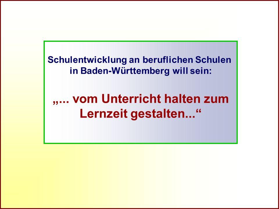 Referat Grundsatzfragen beruflicher Schulen und Qualitätssicherung R Schulentwicklung an beruflichen Schulen in Baden-Württemberg will sein:... vom Un