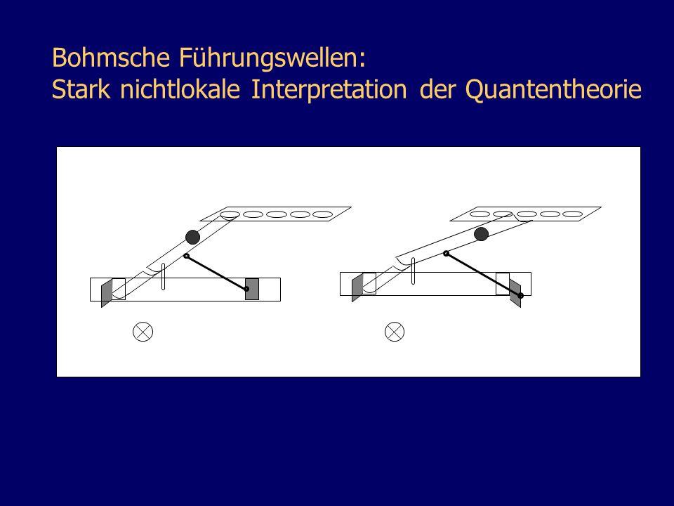Bohmsche Führungswellen: Stark nichtlokale Interpretation der Quantentheorie
