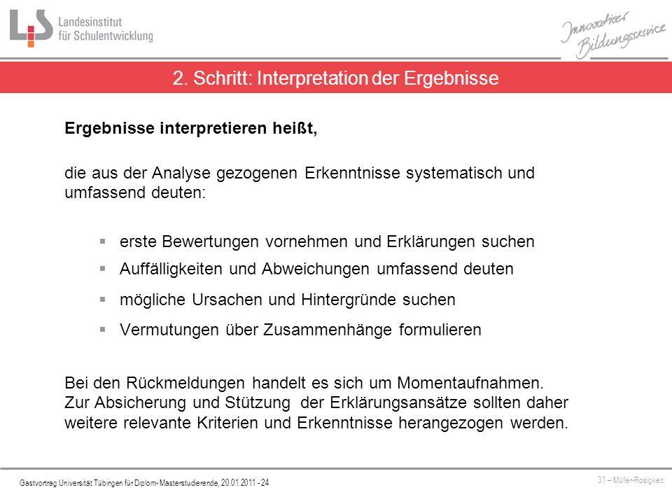 Platzhalter Gastvortrag Universität Tübingen für Diplom- Masterstudierende, 20.01.2011 - 24 31 – Müller-Rosigkeit 2.