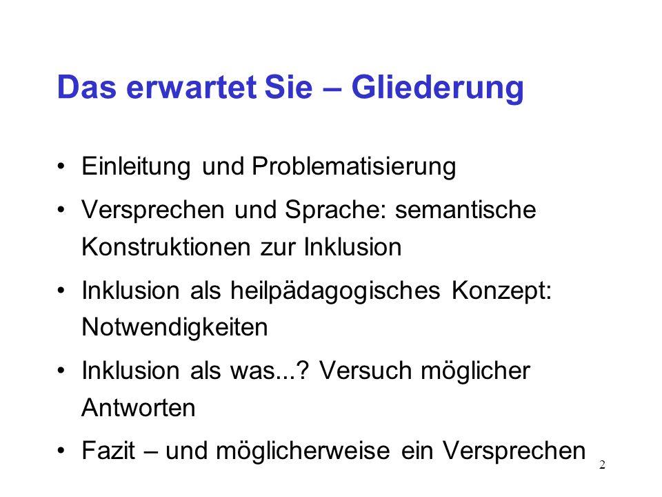 Inklusion – Ein Versprechen? Prof. Dr. Heinrich Greving