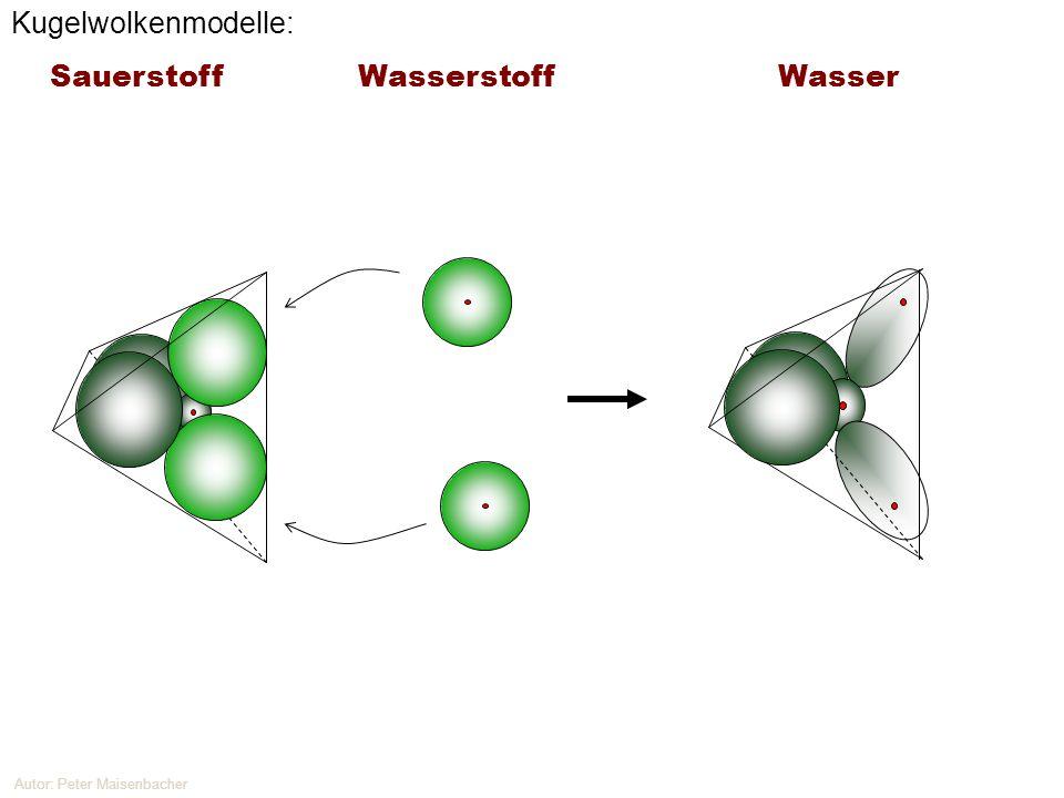 Autor: Peter Maisenbacher Kugelwolkenmodelle: Sauerstoff Wasserstoff Wasser