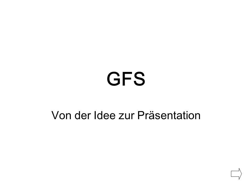 GFS Von der Idee zur Präsentation
