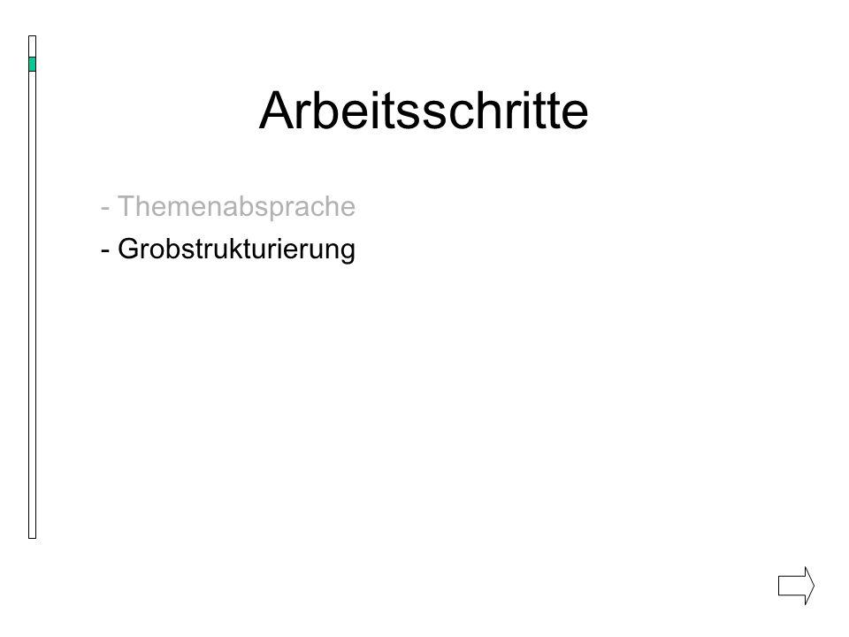 Der Folienaufbau - einheitliches Design - klare, gut lesbare Schrift (mind.