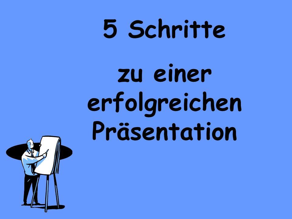 1.Schritt: Grundgedanken Wer präsentiert. Was ist das Thema der Präsentation.