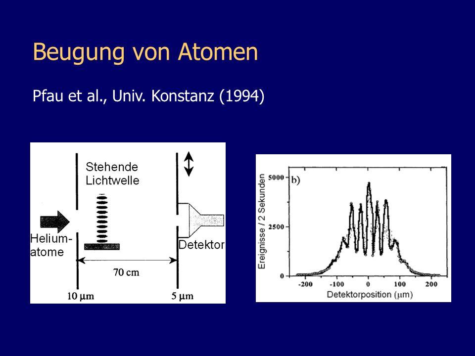 Beugung von Atomen Pfau et al., Univ. Konstanz (1994)