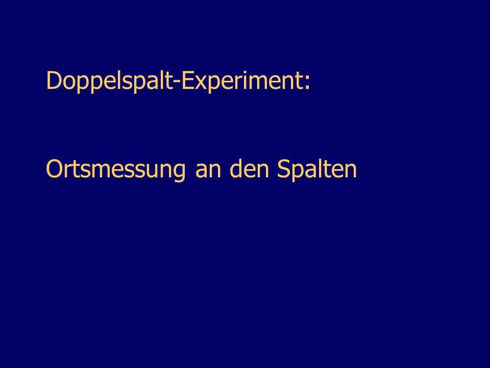 Doppelspalt-Experiment: Ortsmessung an den Spalten