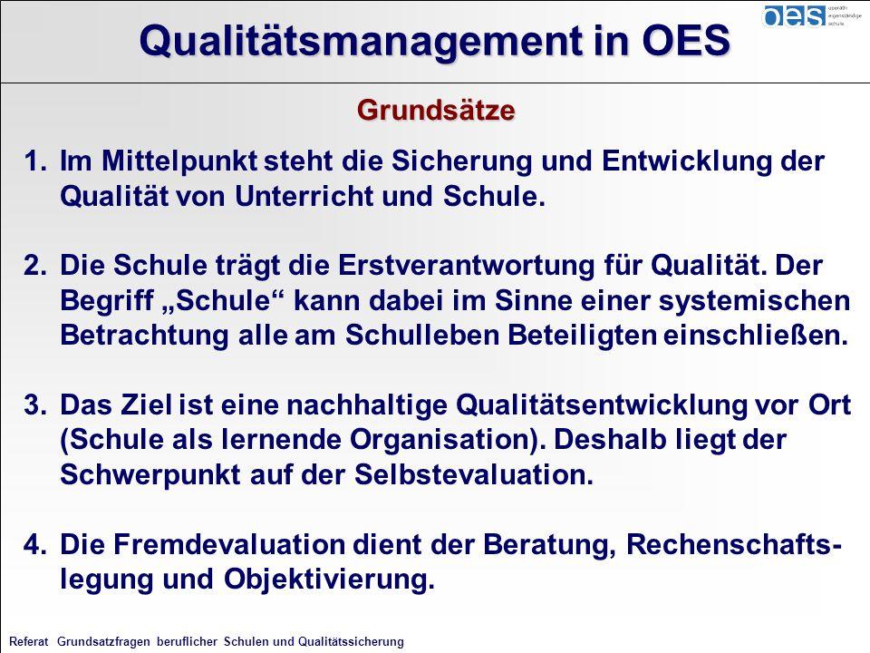 Referat Grundsatzfragen beruflicher Schulen und Qualitätssicherung 1.Im Mittelpunkt steht die Sicherung und Entwicklung der Qualität von Unterricht un