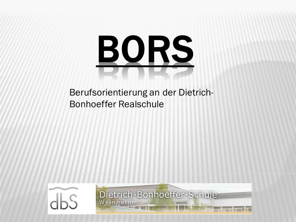 Berufsorientierung an der Dietrich- Bonhoeffer Realschule