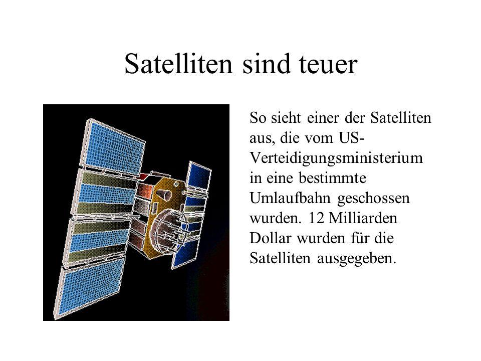 24 Satelliten 24 Satelliten fliegen um die Erde.