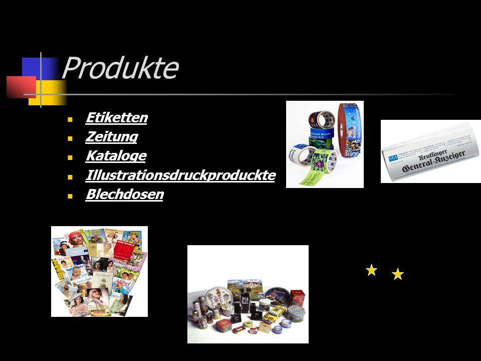Produkte Etiketten Zeitung Kataloge Illustrationsdruckproduckte Blechdosen