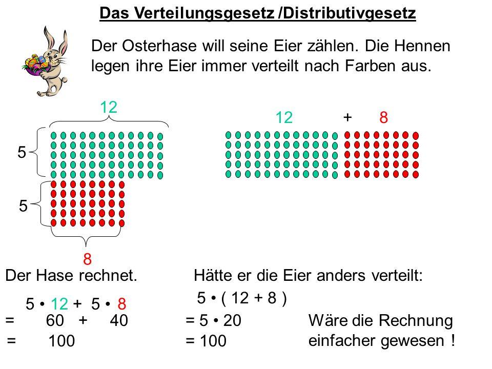 Das Verteilungsgesetz /Distributivgesetz Der Osterhase will seine Eier zählen.
