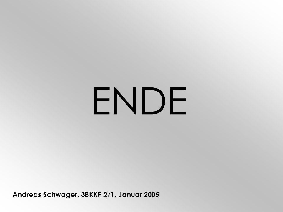 ENDE Andreas Schwager, 3BKKF 2/1, Januar 2005