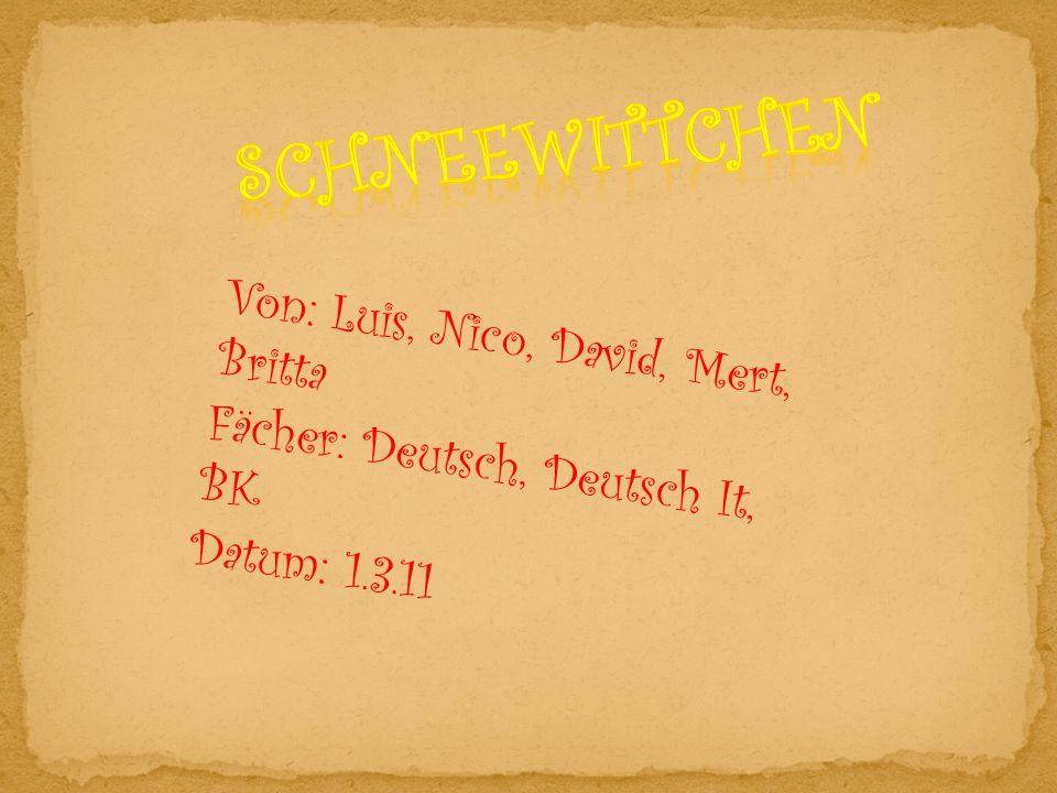 Von: Luis, Nico, David, Mert, Britta Fächer: Deutsch, Deutsch It, BK Datum: 1.3.11