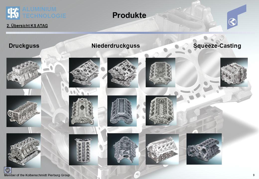 ALUMINIUM TECHNOLOGIE Member of the Kolbenschmidt Pierburg Group 10 Gießverfahren Druckguss 2.