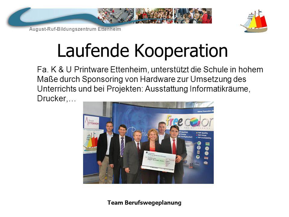 August-Ruf-Bildungszentrum Ettenheim Team Berufswegeplanung Neu Kooperationsvertrag mit Druckhaus Kaufmann, Lahr abgeschlossen