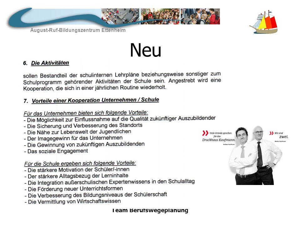 August-Ruf-Bildungszentrum Ettenheim Team Berufswegeplanung wir sind auf dem Weg…