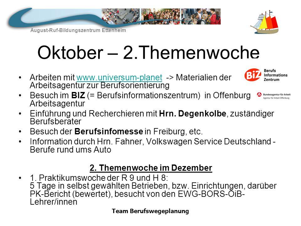 August-Ruf-Bildungszentrum Ettenheim Team Berufswegeplanung Januar – 3.