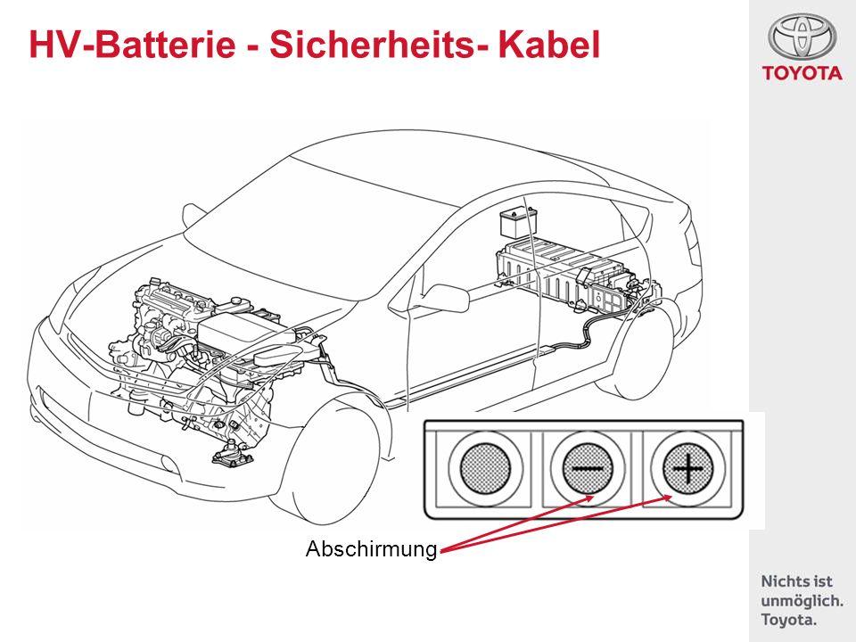 HV-Batterie - Sicherheits- Kabel Abschirmung +12V