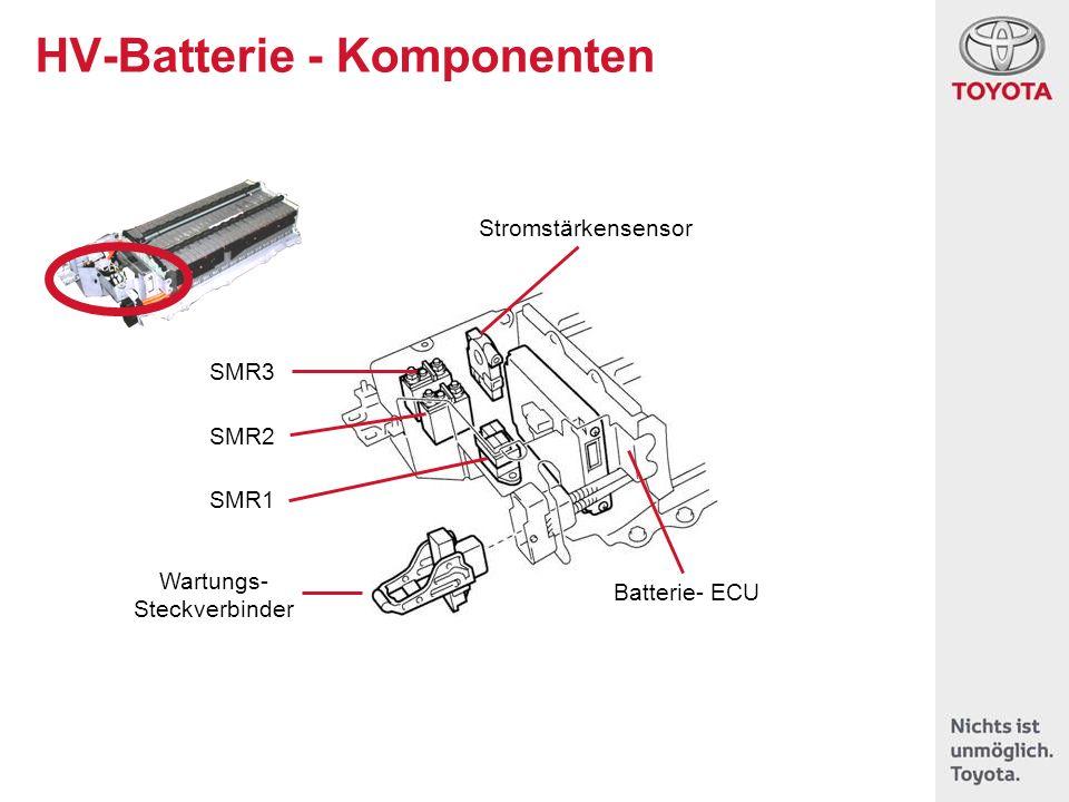 HV-Batterie - Komponenten Stromstärkensensor Batterie- ECU Wartungs- Steckverbinder SMR3 SMR2 SMR1