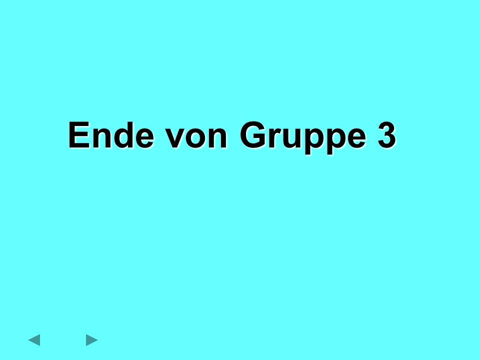 Ende von Gruppe 3