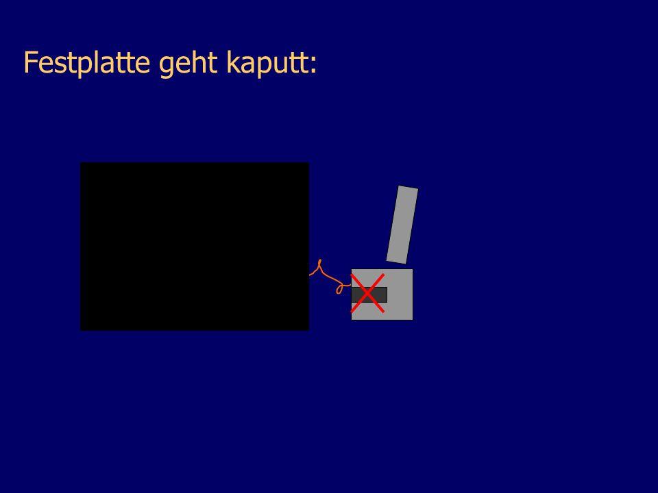 Festplatte geht kaputt: