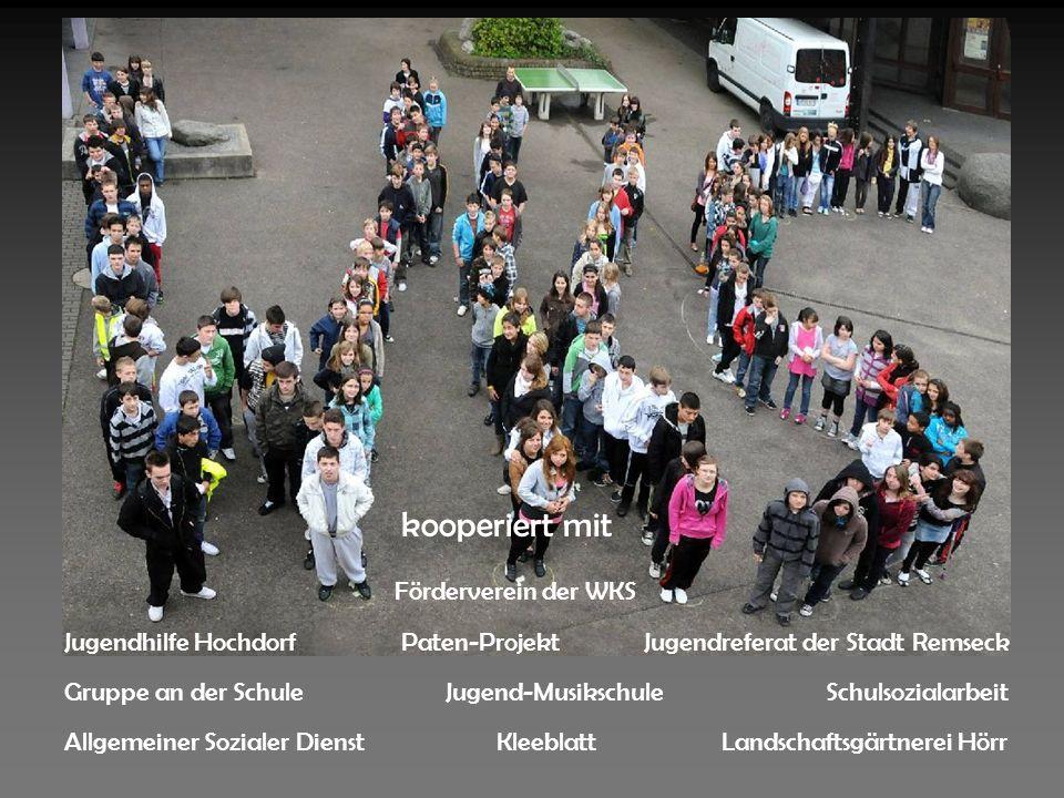 Gruppe an der Schule Jugendhilfe HochdorfJugendreferat der Stadt Remseck Schulsozialarbeit KleeblattAllgemeiner Sozialer Dienst Paten-Projekt Förderve