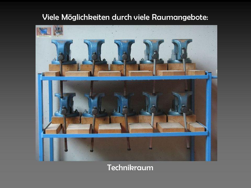 Viele Möglichkeiten durch viele Raumangebote: Technikraum