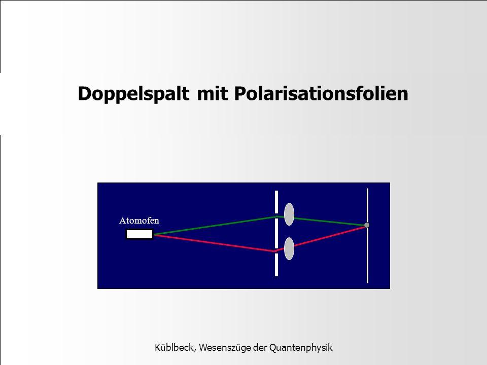 Doppelspalt mit Polarisationsfolien Küblbeck, Wesenszüge der Quantenphysik Atomofen
