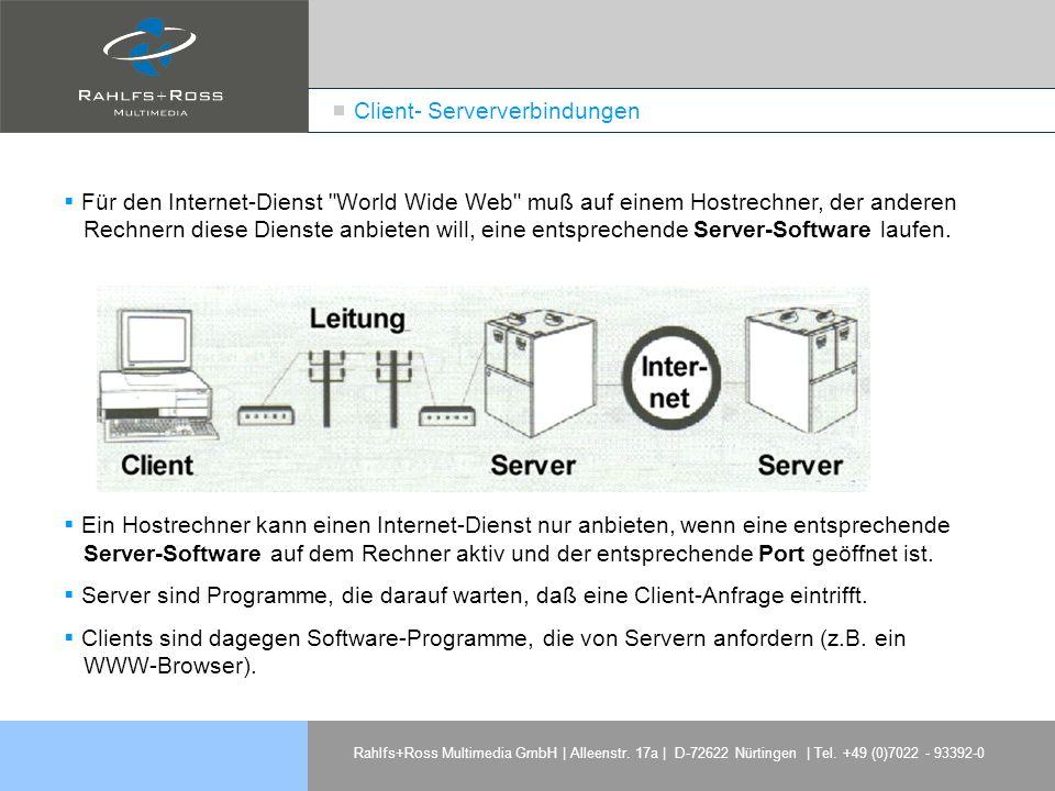 Rahlfs+Ross Multimedia GmbH | Alleenstr. 17a | D-72622 Nürtingen | Tel. +49 (0)7022 - 93392-0 Für den Internet-Dienst