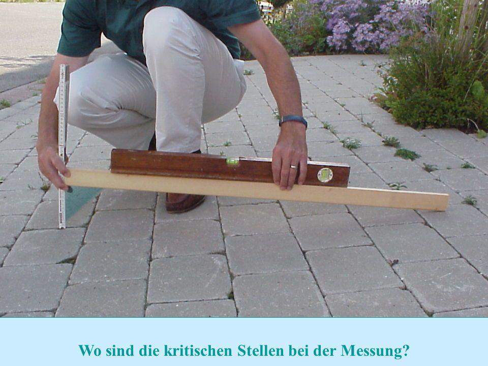 Zurück zur Auswahl Realschule Leinzell - Staatl. Realschulseminar Schwäbisch Gmünd Folie 14 Wo sind die kritischen Stellen bei der Messung?