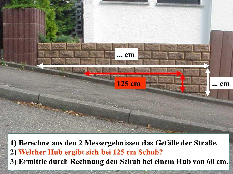 Zurück zur Auswahl Realschule Leinzell - Staatl. Realschulseminar Schwäbisch Gmünd Folie 20 125 cm... cm 1) Berechne aus den 2 Messergebnissen das Gef