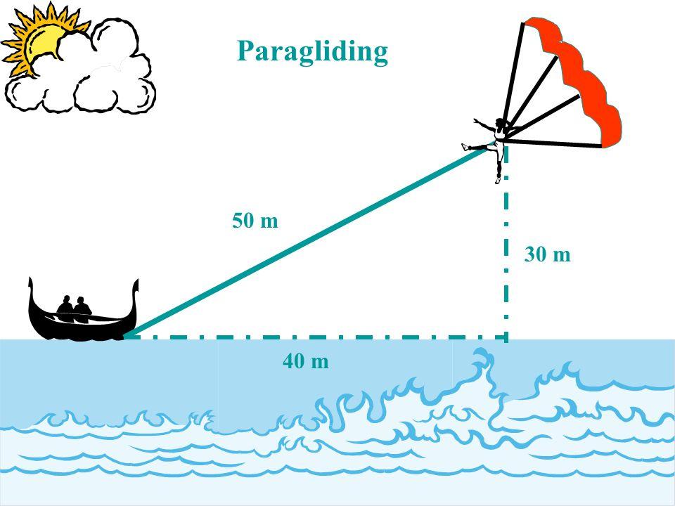 50 m 30 m 40 m Paragliding