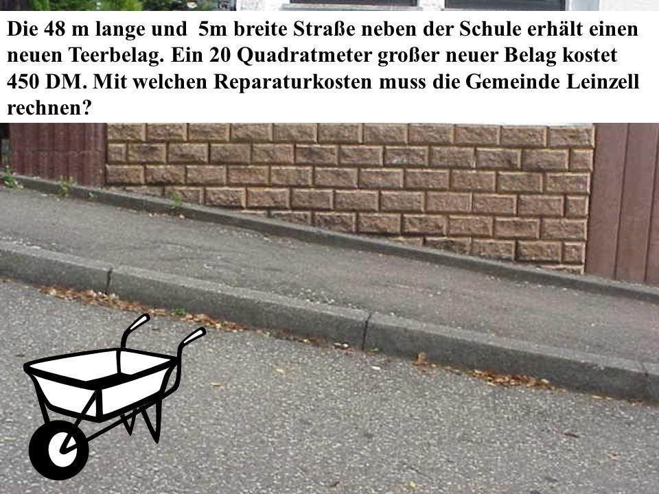 Zurück zur Auswahl Realschule Leinzell - Staatl. Realschulseminar Schwäbisch Gmünd Folie 50 Die 48 m lange und 5m breite Straße neben der Schule erhäl
