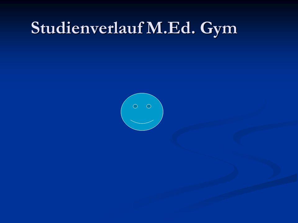 Studienverlauf M.Ed. Gym
