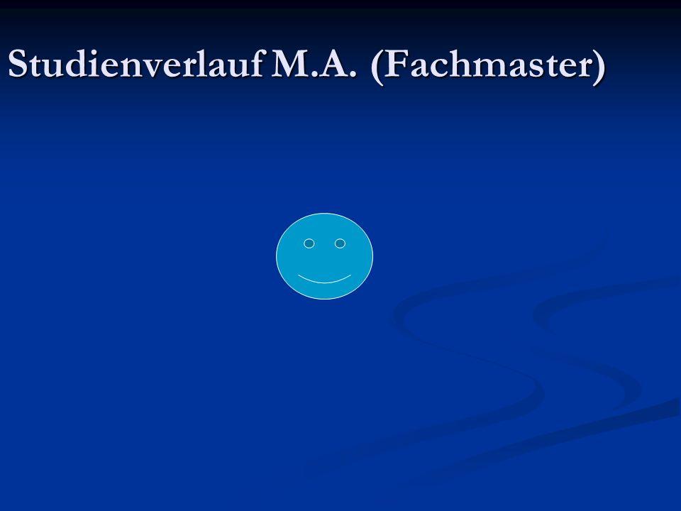 Studienverlauf M.A. (Fachmaster)