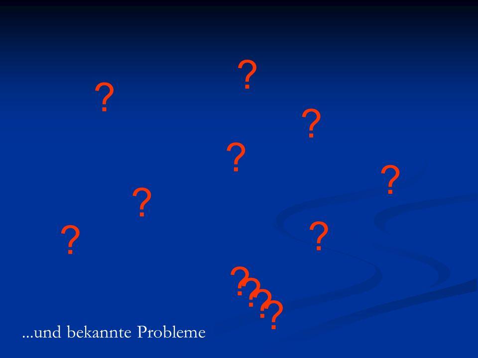 ? ? ? ? ? ? ? ? ? ? ? ?...und bekannte Probleme