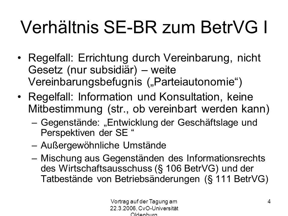 Vortrag auf der Tagung am 22.3.2006, CvO-Universität Oldenburg 5 Jährl.
