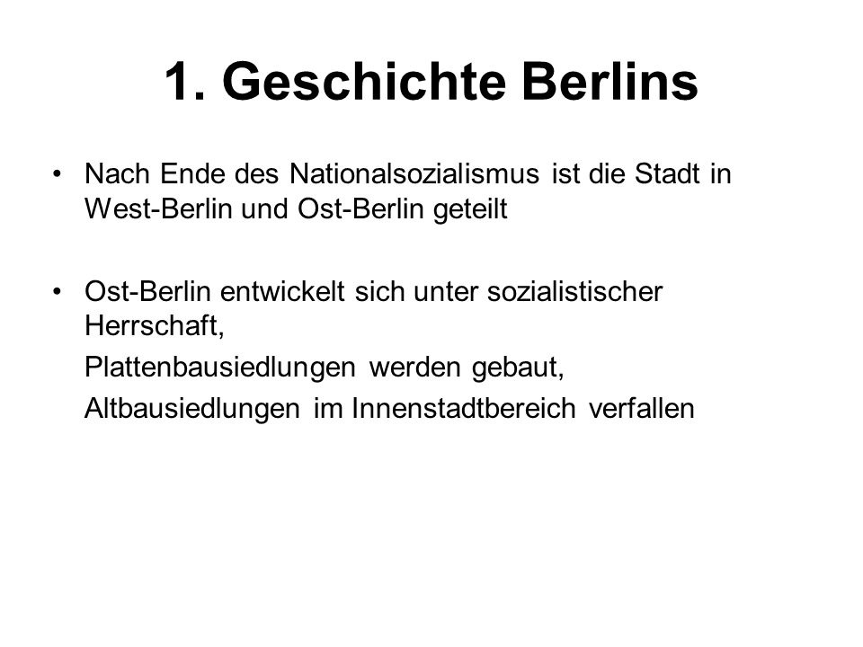 4.2 Der Rest Berlins Die übrigen Bereiche Berlins (Neubausiedlungen am Stadtrand, alte Villenkolonien, Berliner Umland) verzeichnen Zuzügen, vor allem von Familien mit Kindern, und besser Verienenden.