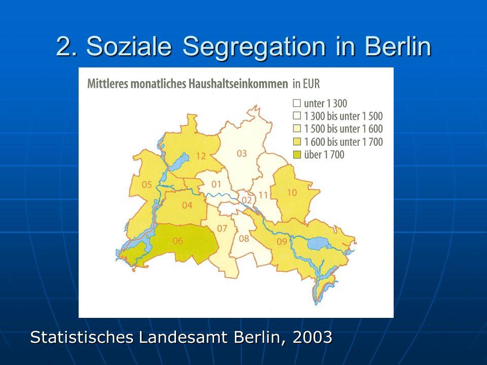 2. Soziale Segregation in Berlin Statistisches Landesamt Berlin, 2003