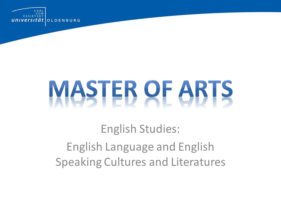 English Studies: English Language and English Speaking Cultures and Literatures