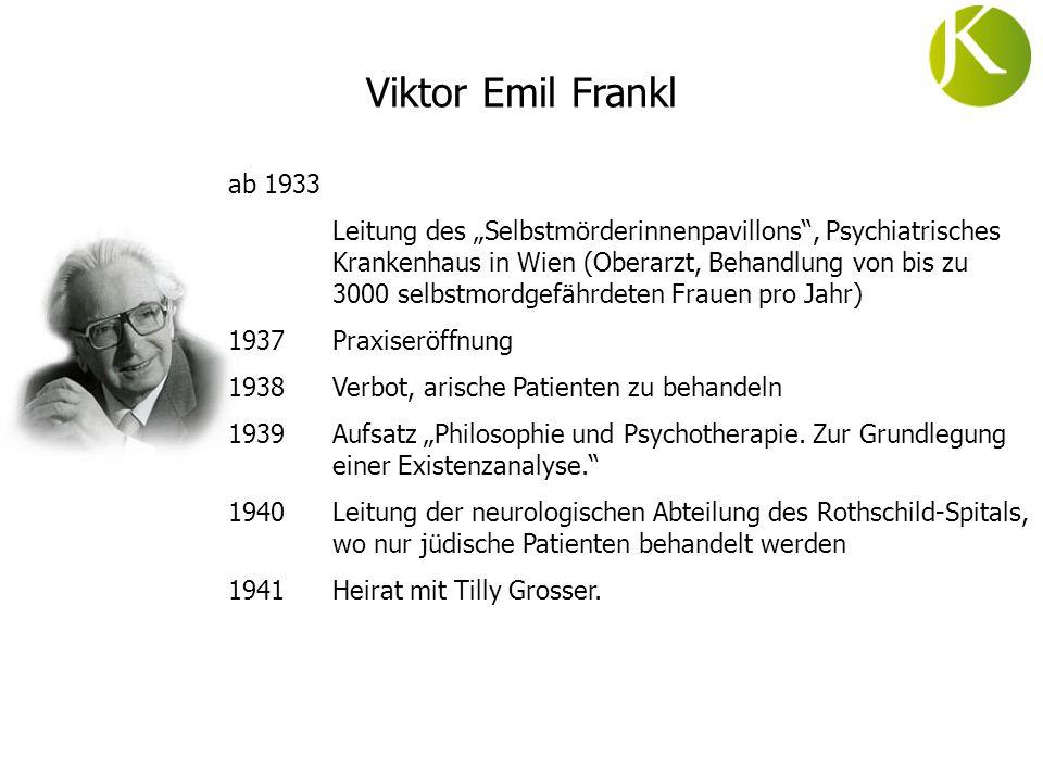 ab 1933 Leitung des Selbstmörderinnenpavillons, Psychiatrisches Krankenhaus in Wien (Oberarzt, Behandlung von bis zu 3000 selbstmordgefährdeten Frauen
