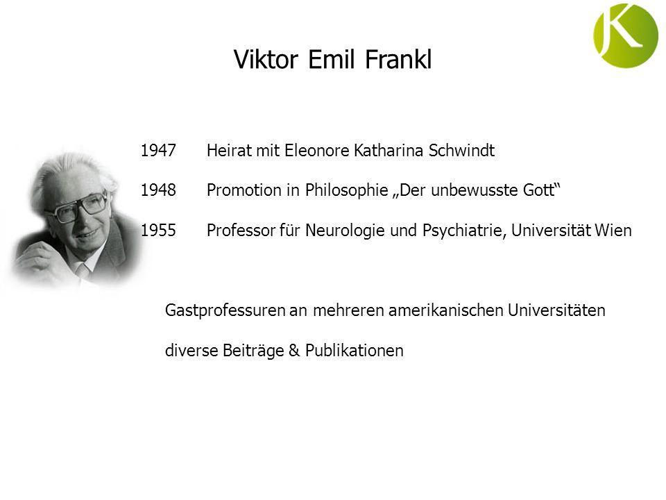 1947 Heirat mit Eleonore Katharina Schwindt 1948Promotion in Philosophie Der unbewusste Gott 1955 Professor für Neurologie und Psychiatrie, Universitä
