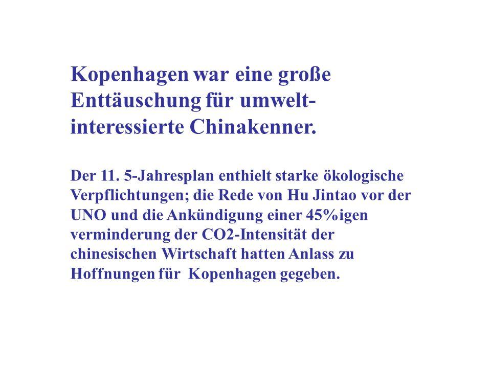 Kopenhagen war eine große Enttäuschung für umwelt- interessierte Chinakenner.