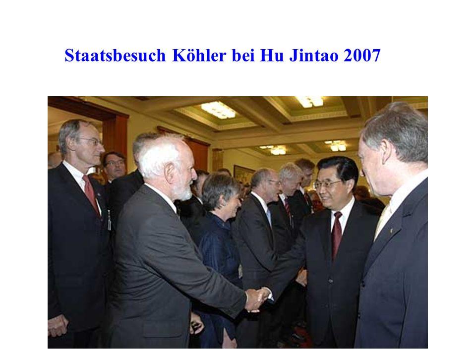 Staatsbesuch Köhler bei Hu Jintao 2007