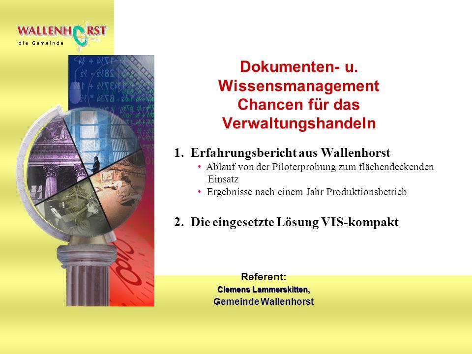 Gemeinde Wallenhorst 24.000 Einwohner 120 Beschäftigte dav.