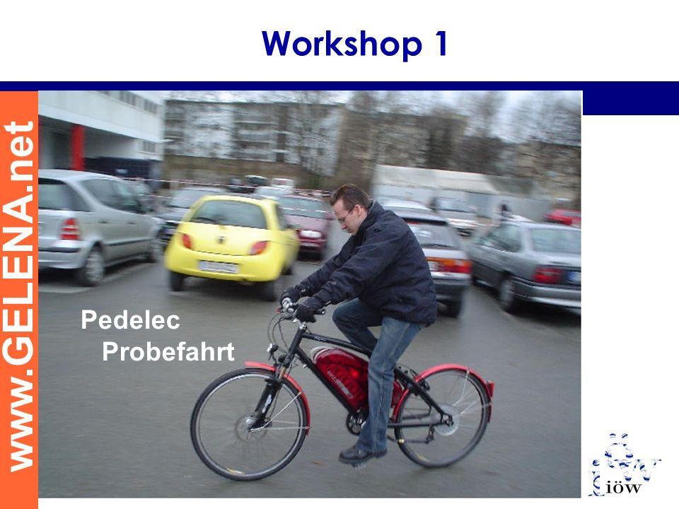 www.GELENA.net Pedelec Probefahrt Workshop 1