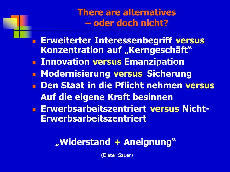 There are alternatives – oder doch nicht.