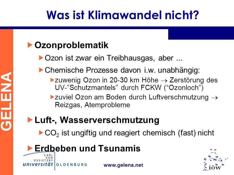 GELENA www.gelena.net Was ist Klimawandel nicht.